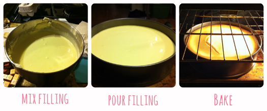 cheesecake filling_steps