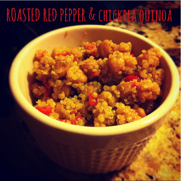 red pepper & chickpea quinoa