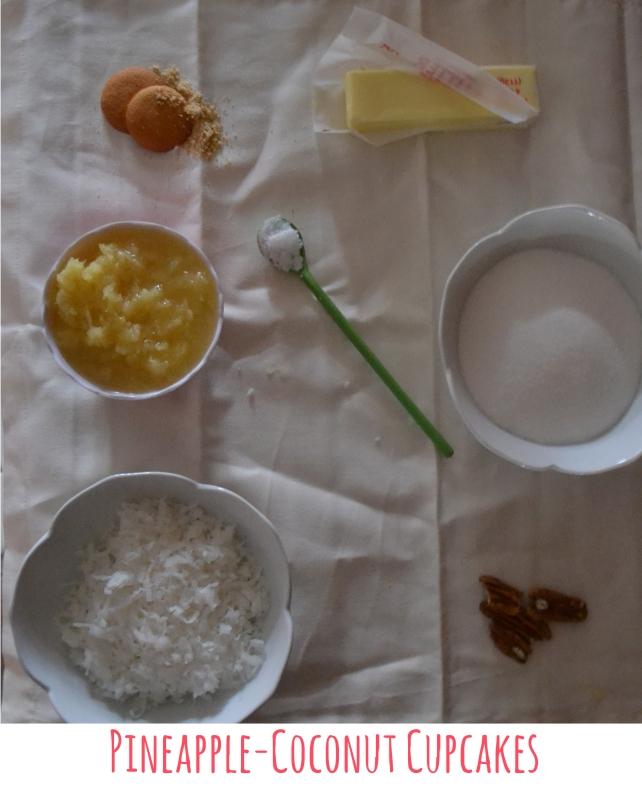 Pineapple Coconut Cupcakes Ingredients