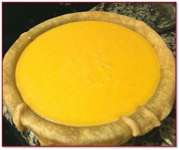 pre-baked pie