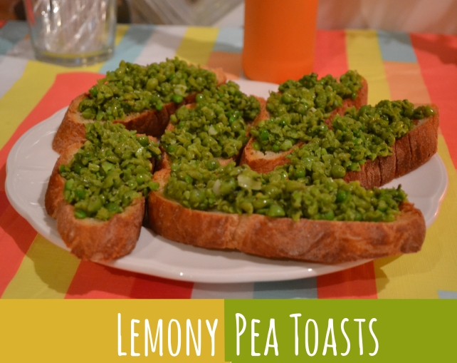 LemonyPeaToasts